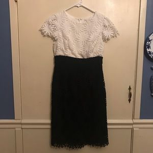 Shoshanna Black & White Daisy Lace Dress Size 2